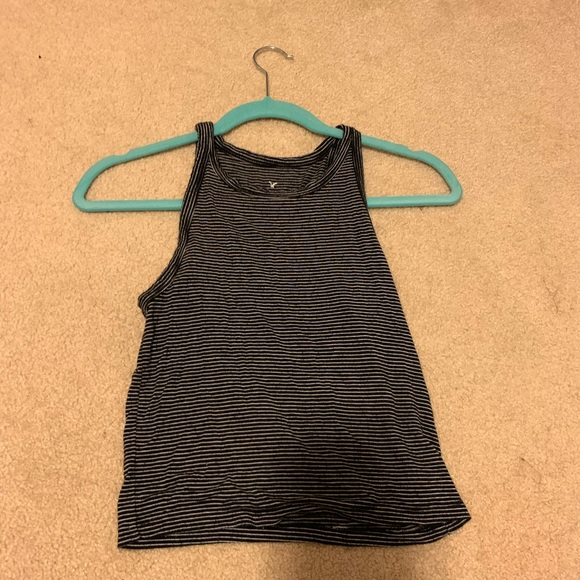 American Eagle Outfitters Tops - black crop holter top